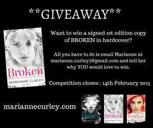 Win a Signed Copy of Broken