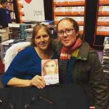 Laura and me at Fearless launch Dymocks