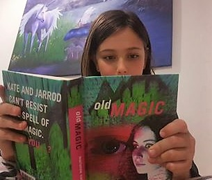 Josie reading Old Magic 1a